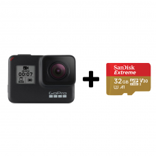GoPro HERO7 Black Edition + SanDisk Extreme 32gb (CHDHX-701-RW)