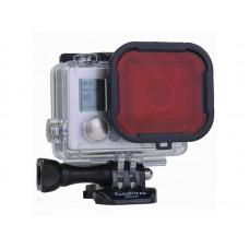 Красный фильтр PolarPro Red для бокса  GoPro Hero 4/3/3+