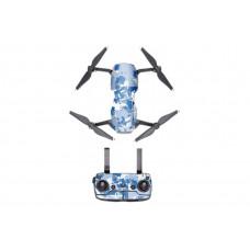 Набор наклеек для DJI Mavic Air (синий камуфляж), PGYTECH P-UNF-CA4