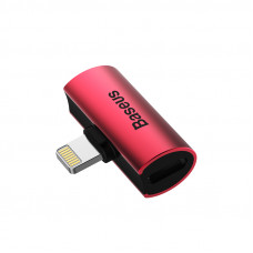Baseus L46 iP Male to Dual iP Female Adapters Red+Black