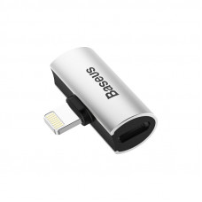 Baseus L46 iP Male to Dual iP Female Adapters Silver+Black