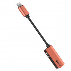 Baseus iP Male to iP+iP Female Adapter L37 Blush gold