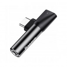 Baseus L41 Type-C (input) for Type-C female connectors + 3.5 mm female connector adapters Black