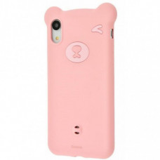 Чехол накладка Baseus Bear Silicone Case For iP XR 6.1inchPink