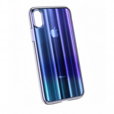 Чехол накладка Baseus Aurora Case For iP XR 6.1inch Transparent Blue