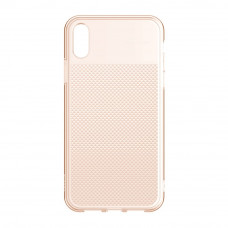 Чехол накладка Baseus Glistening & transparent Case For iP XR 6.1inch Transparent gold
