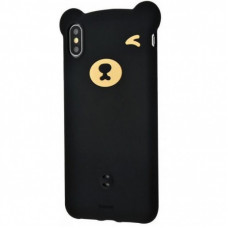 Чехол накладка Baseus Bear Silicone Case For iPXSm 6.5(2018)Black
