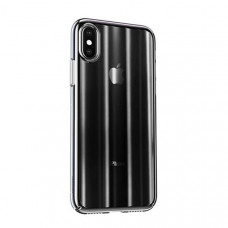 Чехол накладка Baseus Aurora Case For iPXSm 6.5(2018) Transparent Black