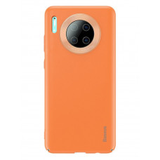 Чехол накладка Baseus Alloy Leather Pattern Protective Case For HUAWEI Mate30 Pro Orange