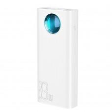 Внешний аккумулятор Baseus Amblight Quick Charge &large power digital display power bank 33W  (PD3.0+QC3.0) 30000mAh White