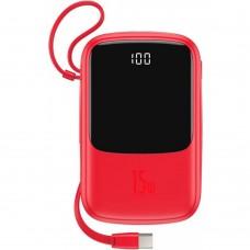 Внешний аккумулятор Baseus Q pow Digital Display 3A Power Bank 10000mAh (With Type-C Cable)Red