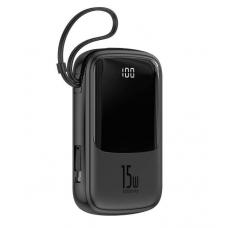 Внешний аккумулятор Baseus Q pow Digital Display 3A Power Bank 10000mAh (With Type-C Cable)Black