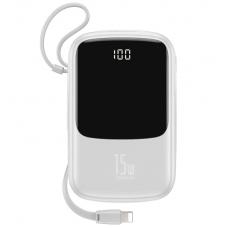 Внешний аккумулятор Baseus Q pow Digital Display 3A Power Bank 10000mAh (With IP Cable)White