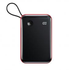 Внешний аккумулятор Baseus Mini S Digital Display 3A Power Bank 10000mAh (With Type-C Cable)Red