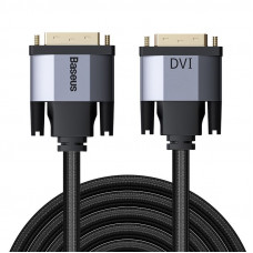 Baseus Enjoyment Series DVI Male To DVI Male bidirectional Adapter Cable 1m Dark gray