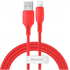 Кабель Baseus Colourful Cable USB For iP 2.4A 1.2m Red