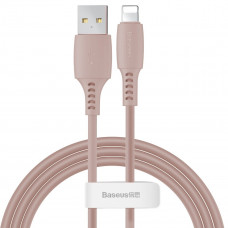 Кабель Baseus Colourful Cable USB For iP 2.4A 1.2m Pink