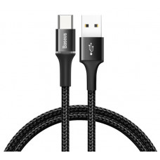 Кабель Baseus halo data HW flash charge cable USB For Type-C 40W 1m Black