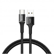 Кабель Baseus halo data cable Type-C PD2.0 60W (20V 3A) 0.5m Black