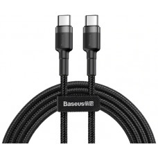 Кабель Baseus Cafule PD2.0 60W flash charging USB For Type-C cable (20V 3A)1m Gray+Black