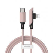 Кабель Baseus Colourful Elbow Type-C to iP Cable PD 18W 1.2m Pink