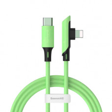 Кабель Baseus Colourful Elbow Type-C to iP Cable PD 18W 1.2m Green