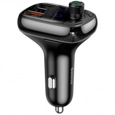 Автомобильное зарядное устройство Baseus T typed S-13 wireless MP3 car charger(PPS Quick Charger-EU)Black