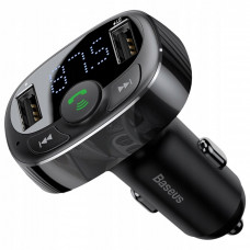 Автомобильное зарядное устройство Baseus T typed S-09A wireless MP3 car charger(Standard edition)Black