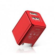 Сетевая зарядка Baseus Traveler series Dual USB charger 2.4A (CN) Red