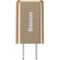 Сетевая зарядка Baseus Traveler series Dual USB charger 2.4A (CN)  Gold