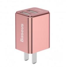 Сетевая зарядка Baseus Traveler series Dual USB charger 2.4A (CN) Rose Gold