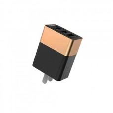 Сетевая зарядка Baseus Duke 3USB Smart Quick Charger (CN)  Gold black