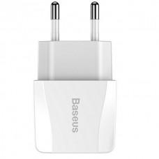 Сетевая зарядка Baseus Mini Dual-U Charger(EU)2.1A White
