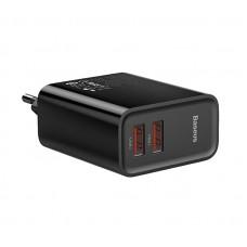 Сетевая зарядка Baseus PPS three output quick charger(C+U+U)60W CN Black