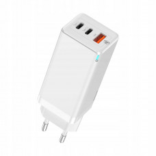 Сетевая зарядка Baseus GaN Quick Travel Charger C+C+A 65W CN White