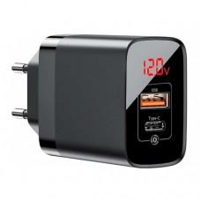 Сетевая зарядка Baseus Mirror Lake PPS Digital Display quick Charger A+C CN Black