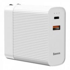 Сетевая зарядка Baseus Power station Travel Charger&Powerbank 2in1 5000mAh (CN)  White