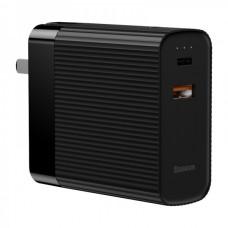 Сетевая зарядка Baseus Power station Travel Charger&Powerbank 2in1 5000mAh (CN) Black