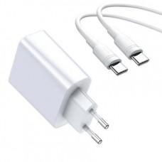 Сетевая зарядка Baseus Speed Huawei super charge 22.5W single U CH(With 1M U to C Cable)(CN)White