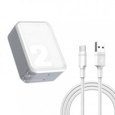 Сетевая зарядка Baseus Brand Travel Charger 2.1A (With USB toType-C 1m Charging Cable) CN white