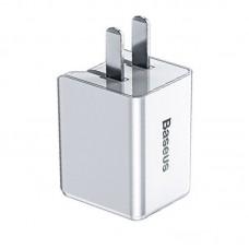 Сетевая зарядка Baseus Traveler PD quick charger suit 18W(Type-C to IP 1M Cable)(CN)White