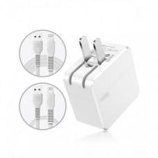 Сетевая зарядка Baseus COCO Series Charging with two Lightning  cable Set (CN) White
