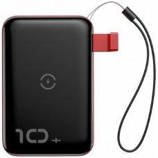 Беспроводное зарядное устройство Baseus Mini S Bracket 10W Wireless Charger Power bank 10000mAh 18W Black+Red