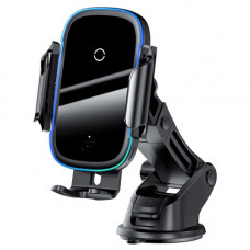 Беспроводное зарядное устройство Baseus Light Electric Holder Wireless Charger(15W) Black