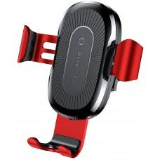 Беспроводное зарядное устройство Baseus Wireless Charger Gravity Car Mount Red