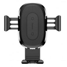 Беспроводное зарядное устройство Baseus Wireless Charger Gravity Car Mount(osculum type )Black