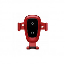 Беспроводное зарядное устройство Baseus Metal Wireless Charger Gravity CarMount(Air Outlet Version)Red