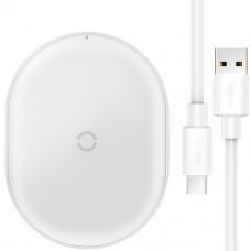Беспроводное зарядное устройство Baseus Cobble wireless charger 15W White