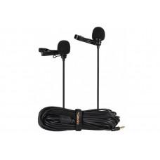 Микрофон петличный Comica CVM-D02 двойной кабель 4,5м