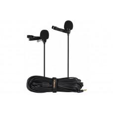 Микрофон петличный Comica CVM-D02 двойной кабель 6м